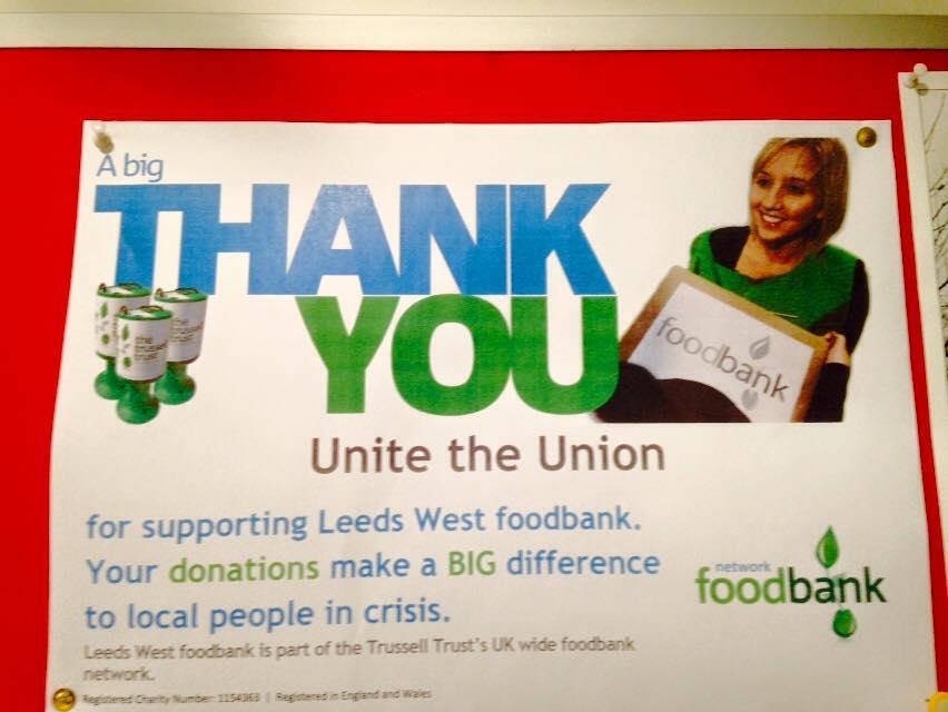 Farsley Food Bank Donation Point Unite Community Leeds